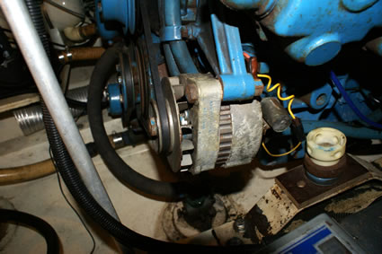automotive alternator installed in engine compartment in violation of Federal law